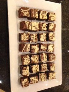 Marbled chocolate brownies. A huge hit with the children (and the dog)!